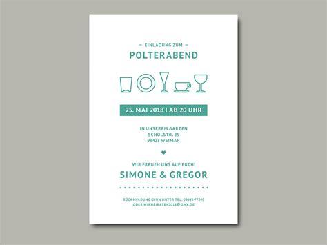 Polterabend Einladung by Einladung Zum Polterabend 3 Inliebe Papeterie