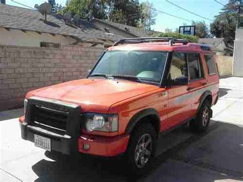 land rover discovery g4 edition sell used 2004 orange land rover discovery g4 lmited