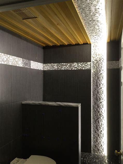 strip lighting for bathrooms led bathroom lighting using 12vdc warm white led strip