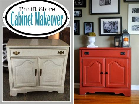 Thrift Store Furniture Makeovers by Two It Yourself Thrift Store Cabinet Makeover Restored