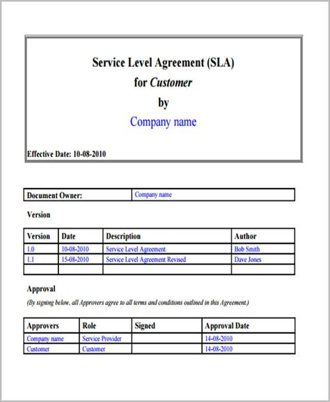service level agreement template australia service level agreement template payroll service level