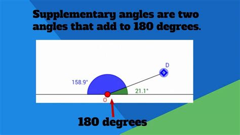 supplementary definition definition complementary and supplementary angles