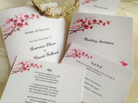 cherry blossoms wedding invitations cherry blossom wedding invitations wedding invites
