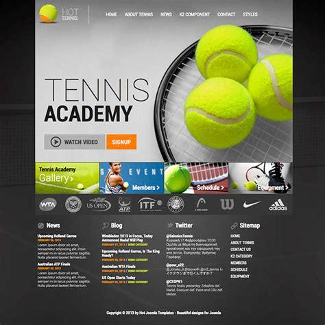 tennis templates free joomla tennis template hotthemes
