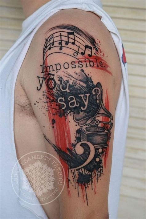 musical tattoos for men 35 awesome tattoos for creative juice