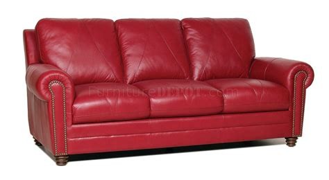 couch seat height weston sofa loveseat set in red full leather w options