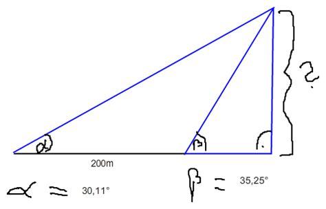 wann wendet sinus cosinus und tangens an sinus cosinus und tangens wie berechnet die h 246 he