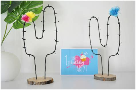 learn how to diy wire cactus and style up a corner in your