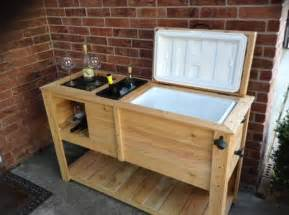 Wooden Patio Cooler by Quot Custom Made Wooden Patio Cooler With Built In Wine Rack