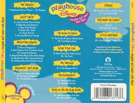 play house music playhouse disney imagine and learn with music disney songs reviews credits