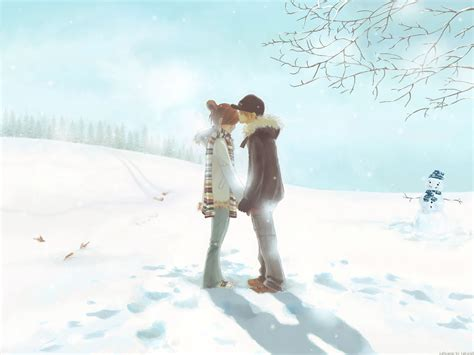animated love couple wallpaper hd merry christmas anime cute couple love hd wallpaper