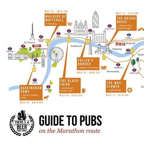 design running route google maps guide to pubs along the london marathon 2016 route map
