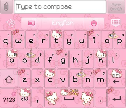 hello kitty themes keyboard hello kitty loves bow go keyboard skins android themes