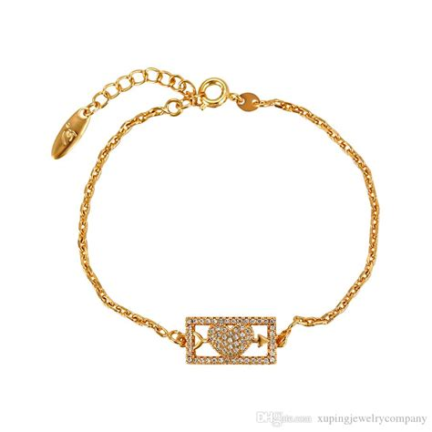2018 xuping 18k gold plated bracelets cubic zirconia link chain wholesale high