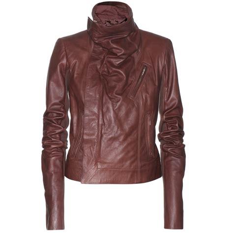 Jaket Marron maroon womens biker leather jacket womens jackets