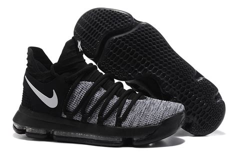 basketball shoes for sale cheap nike kd 10 black grey white basketball shoes for