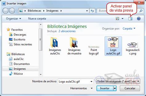 Imagenes Animadas Word 2010 | curso gratis de word 2010 aulaclic 11 im 225 genes y gr 225 ficos