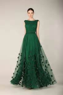 Green designer evening skirts and gowns collection designers