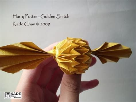 Pemutih Mata kade chan origami 香港摺紙工作室 日誌 harry potter golden snitch