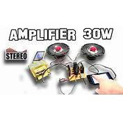 How To Make Amplifier Stereo 30w  YouTube