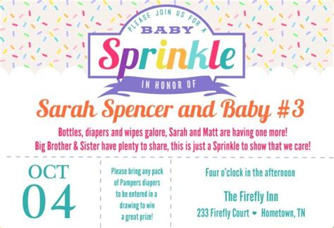 Baby Shower For 3rd Baby by Baby Sprinkle Invitation Wording 5 Baby Shower