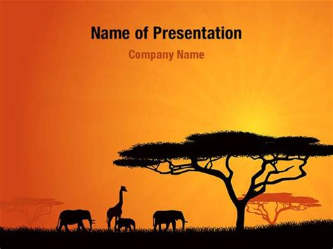 Africa Powerpoint Template African Wildlife Powerpoint Templates African Wildlife Powerpoint Backgrounds Templates For