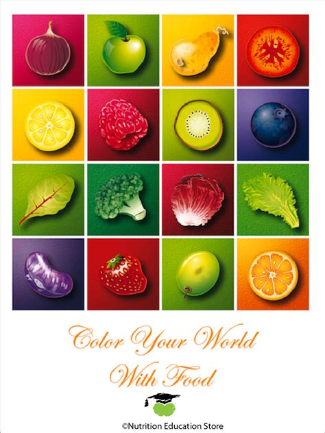 fruit v vegetables nutrition colors of health fruit and vegetable poster nutrition