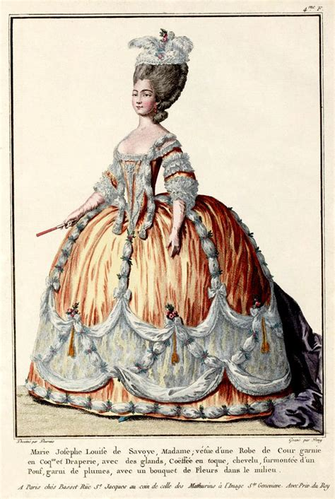 18th century french clothing 1774 french fashion plate french fashion pinterest