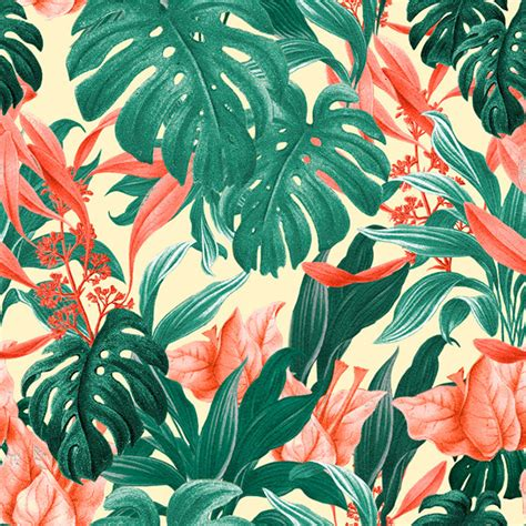 tropical pattern background free tropical pattern feat monstera leafs on behance