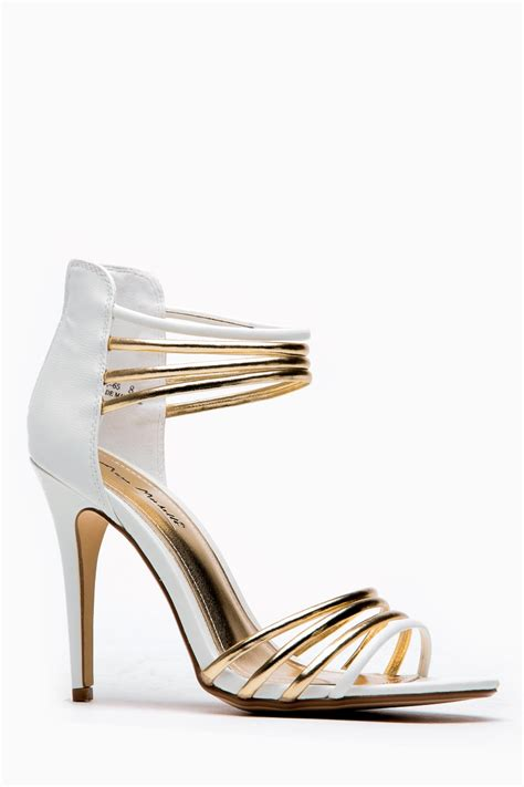 gold and white high heels gold and white heels heels me