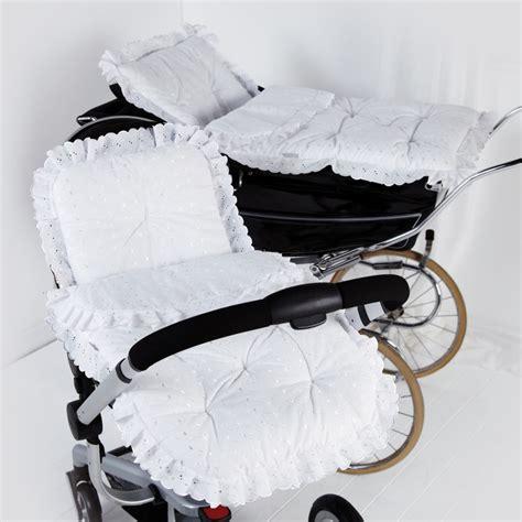 Broderie Anglaise Large Pram Set Pram Bedding Sets