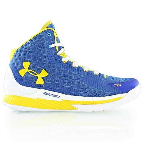 royal blue and yellow basketball shoes armour curry 1 royal blue yellow hos kickz