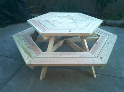 hexagon picnic table house decor ideas