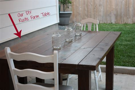our diy farm table sweet simple