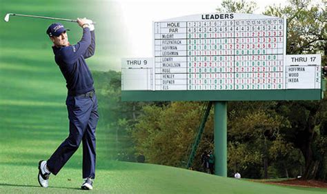 masters  todays tee times  golf tournament