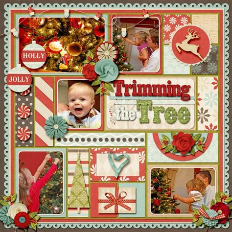 trimming the tree scrapbook com scrapbooking