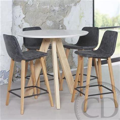 table haute cuisine bois table haute de cuisine sandinave blanche tree table de