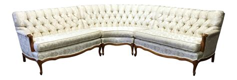 provincial sofa vintage 1960 s french provincial sectional sofa chairish