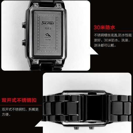 Jam Tangan Bandung Wanita Bregenz Stainless Waterrsistant Skmei skmei jam tangan led wanita 1013a black
