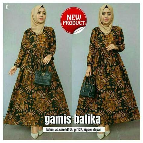 Gamis Batik Muslim jual baju batik muslim gamis batik terbaru batik