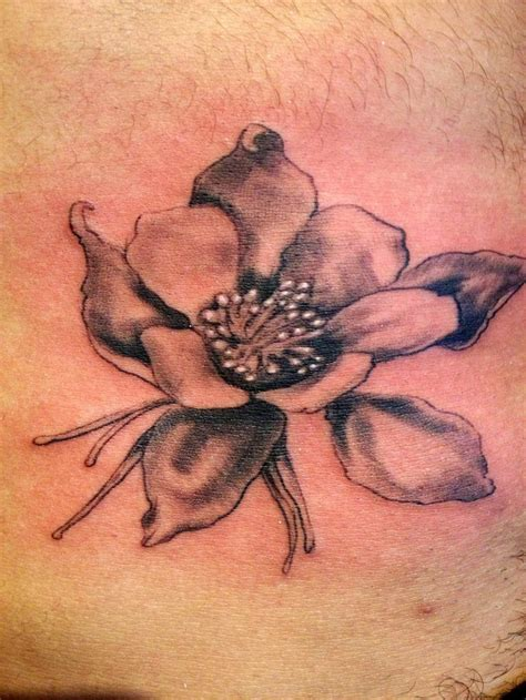 columbine tattoo columbine colorado i did on tummy