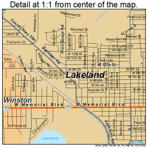 map of lakeland fl lakeland florida map 1238250