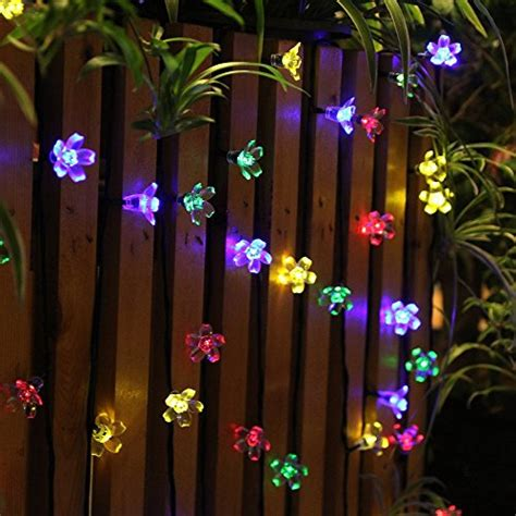 Outdoor Summer String Lights Innoo Tech Solar Lights Outdoor String Light Flower 21ft 50 Led Multi Color Blossom