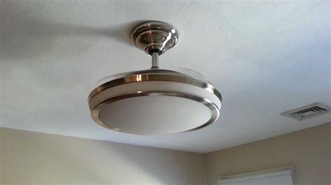 retractable blade ceiling fan with light ceiling fan with retractable blades youtube