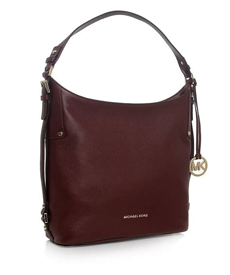 Michael Kors Tweed And Patent Belted Satchel by Michael Michael Kors Bedford Belted Shoulder Bag In Purple