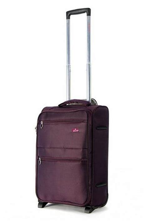 Cabin Luggage Size by Aerolite 21 Quot Cabin Size Trolley Plum 2 Wheels