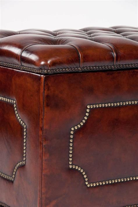 antique ottoman for sale antique leather upholstered ottoman for sale at 1stdibs