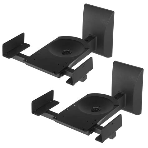 pair of heavy duty wall mount speaker brackets black for