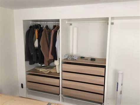 ikea wardrobe hacks ikea hack built in wall of wardrobes they even put