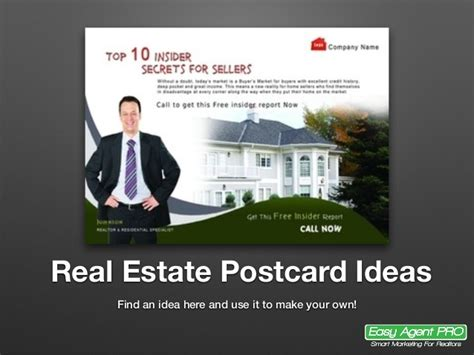 20 real estate postcard ideas